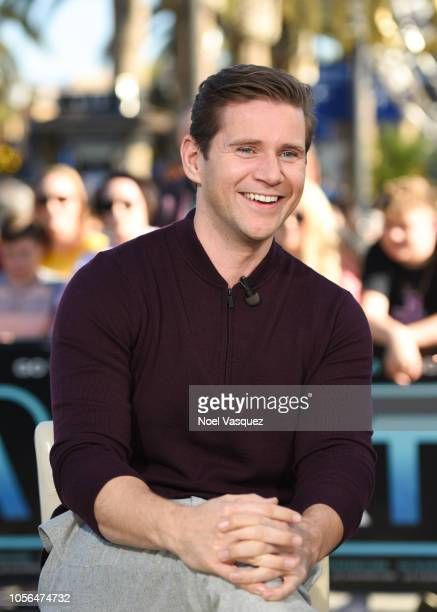 Allen Leech visits Extra at Universal Studios Hollywood on November 2 2018 in Universal City California