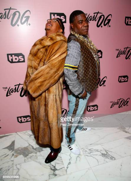Allen Maldonado and Tracy Morgan attend The Premiere Of 'The Last OG' at The William Vale on March 29 2018 in New York City