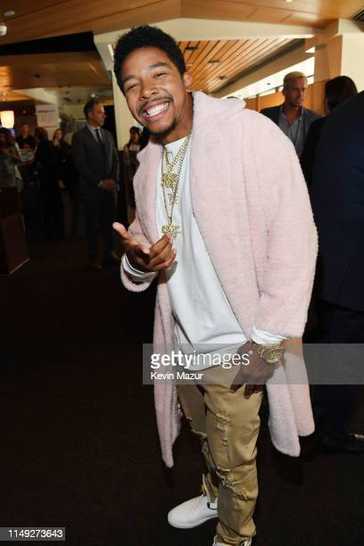 Allen Maldonado of TBS's The Last OG poses in the WarnerMedia Upfront 2019 green room at Nick and Stef's Steakhouse on May 15 2019 in New York City...