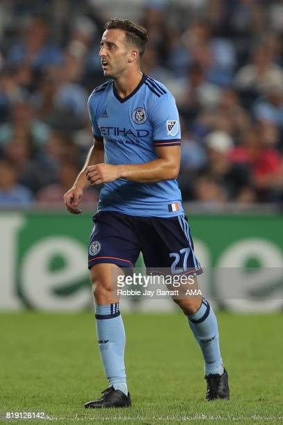 Allen of New York City during MLS fixture between Toronto FC and New York City FC at Yankee Stadium on July 19 2017 in New York City