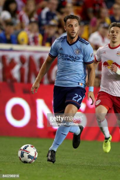 Allen of New York City FC in action during the New York Red Bulls Vs New York City FC MLS regular season match at Red Bull Arena Harrison New Jersey...