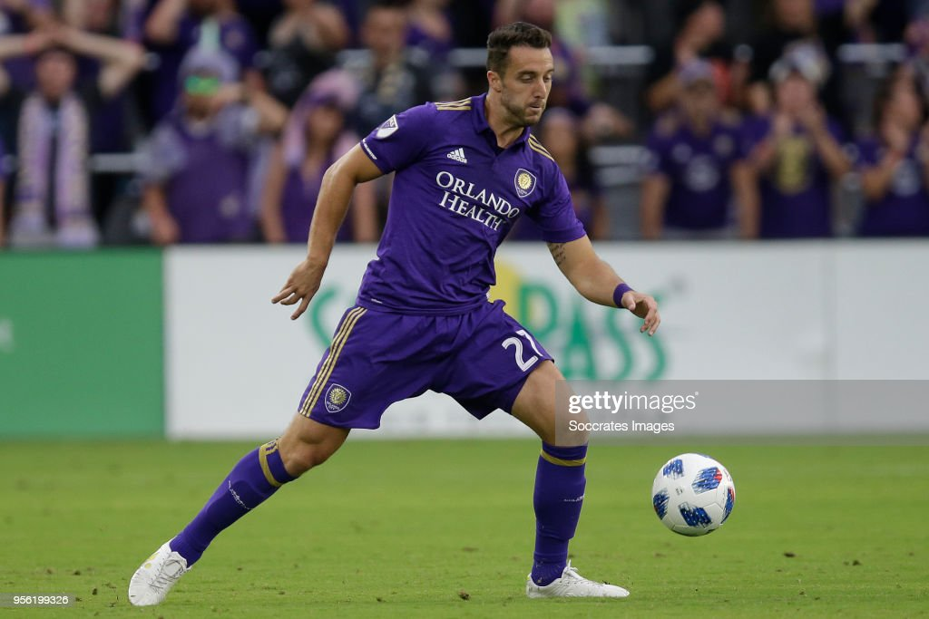 RJ Allen of Orlando City during the match between Orlando City v Real Salt Lake on May 6, 2018
