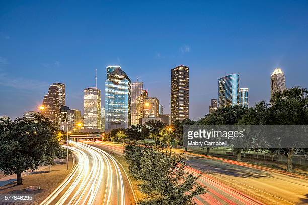 Allen Parkway To Downtown Houston Skyline