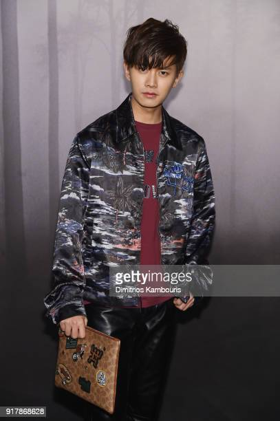 Allen Ren JiaLun attends the Coach Fall 2018 Runway Show at Basketball City on February 13 2018 in New York City