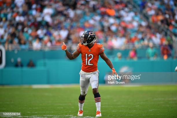 Allen Robinson of the Chicago Bears in action against the Miami Dolphins at Hard Rock Stadium on October 14 2018 in Miami Florida