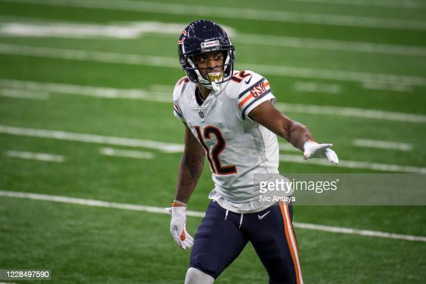 Allen Robinson of the Chicago Bears looks on during the second quarter against the Detroit Lions at Ford Field on September 13, 2020 in Detroit,...