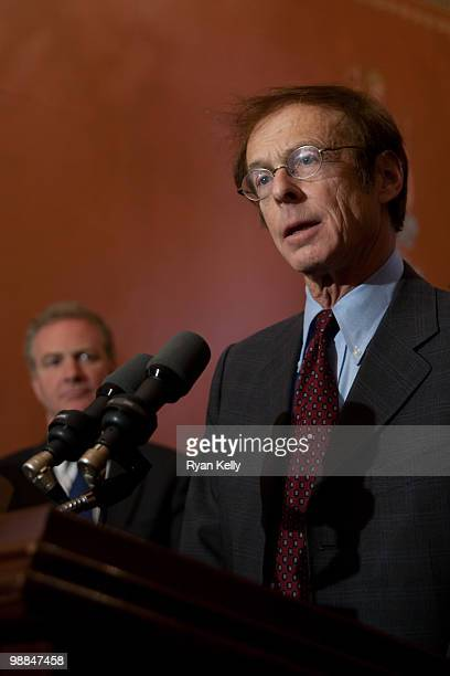 Allen Sinai Chief Global Economist and President of Decision Economics Inc speaks to reporters following a threehour meeting with House Democratic...