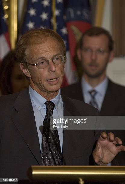 Allen Sinai the Chief Global Economist and President of Decision Economics Inc addresses the press following a meeting between House Democrats and...