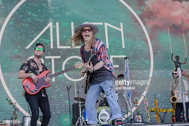 Allen Stone performs at the Bonnaroo Music Arts Festival on June 10 2016 in Manchester Tennessee