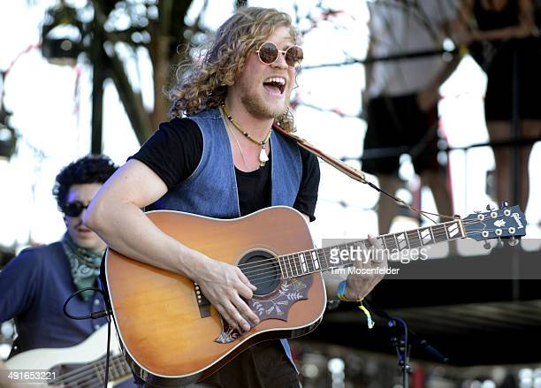 Allen Stone performs during the 2014 Hangout Music Festival at Hangout Beach on May 16 2014 in Gulf Shores Alabama