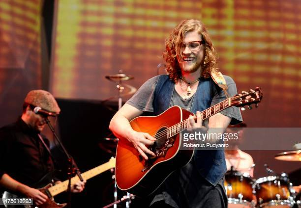 Allen Stone performs in the 10th Year Edition of Jakarta International Java Jazz Festival 2014 at JIExpo Kemayoran on February 28 2014 in Jakarta...