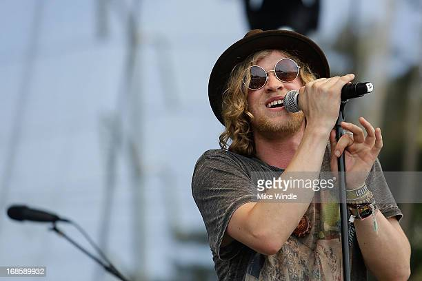 Allen Stone performs on stage during day 3 of the BottleRock music Festival on May 11 2013 in Napa California