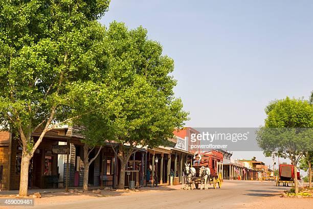 allen street in tombstone, arizona - tombstone arizona stock pictures, royalty-free photos & images