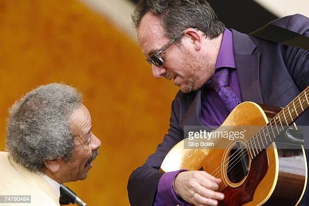 Allen Toussaint and Elvis Costello at the New Orleans Fair Grounds Race Course in New Orleans Louisiana