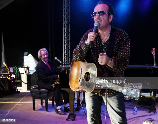 Allen Toussaint and Elvis Costello perform during the 2009 Bonnaroo Music and Arts Festival on June 13 2009 in Manchester Tennessee