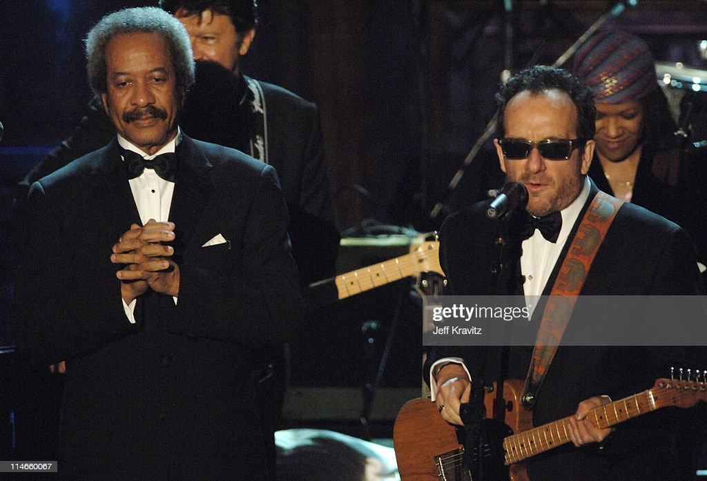 Allen Toussaint and Elvis Costello perform 'Who's Gonna Help Brother Get Further'/'Walking to New Orleans' during the New Orleans Tribute
