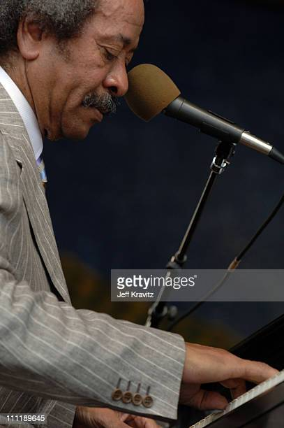 Allen Toussaint during 2005 New Orleans Jazz and Heritage Festival Day 3 at Racecourse Fairgrounds in New Orleans Louisiana United States