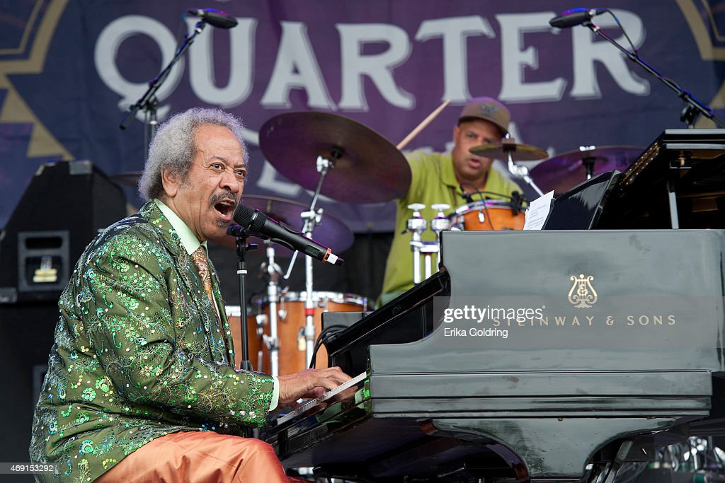 Allen Toussaint performs on Day 1 of French Quarter Festival on April 9, 2015 in New Orleans, Louisiana.