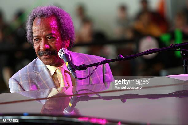 Allen Toussaint performs on stage during Bonnaroo 2009 on June 13 2009 in Manchester Tennessee