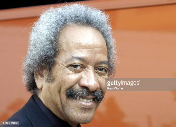 Allen Toussaint poses before the show during Elvis Costello and the Imposters with Allen Toussaint at Hill Auditorium June 13 2006 at Hill Auditorium...