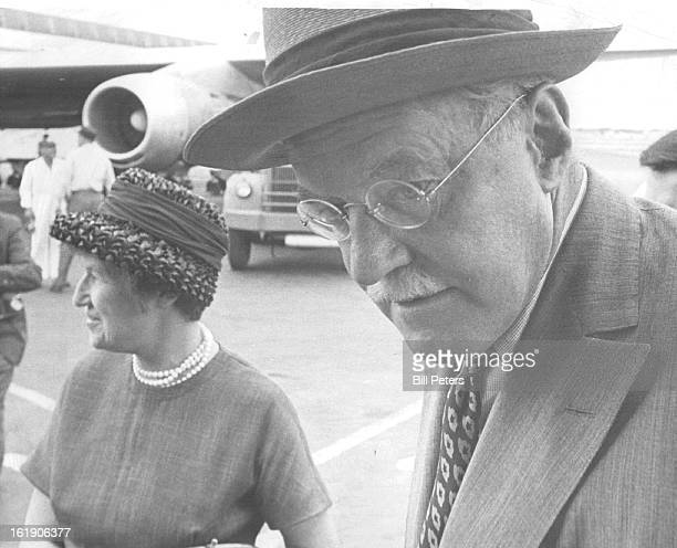 APR 20 1963 APR 21 1963 Allen W Dulles Arrives With His Wife Clover At Stapleton Field He said unveiling of spies in Britain means 'Security is...