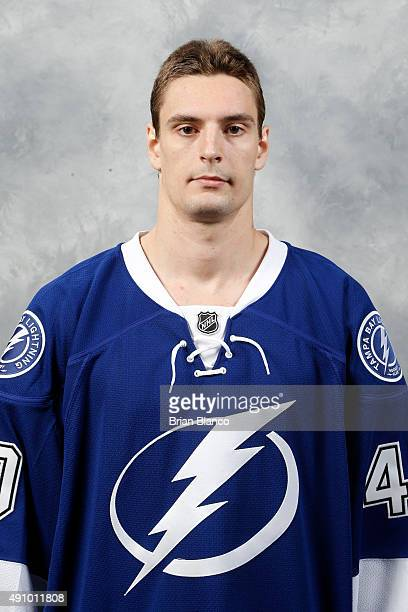 Allen York of the Tampa Bay Lightning poses for his official headshot for the 20152016 season on September 17 2015 at Amalie Arena in Tampa Florida