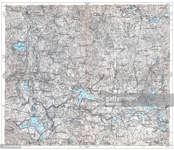 Karte des Deutschen Reiches in 660 Einzelblättern im Maßstab 1100000 hrsg vom Reichsamt für Landesaufnahme Berlin 1893