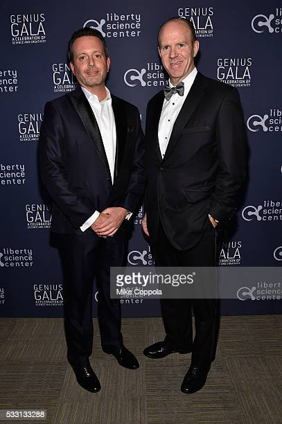 Allergan CEO Brent Saunders and Ernst Young US Chairman and Americans Managing Partner Steve Howe attend the Liberty Science Center's Genius Gala 50...