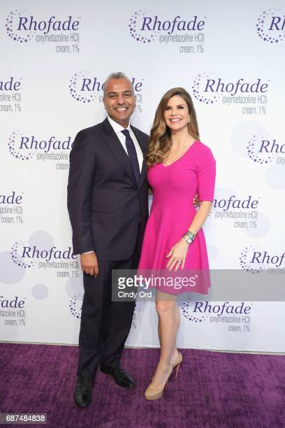 Allergan Senior Vice President Jag Dosanjh and expert Dr Dendy Engelman launch RHOFADE Cream 1% at 201 Mulberry on May 23 2017 in New York City