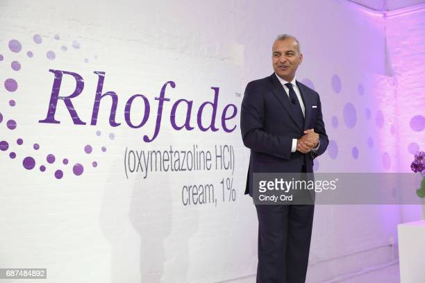Allergan Senior Vice President Jag Dosanjh speaks at the RHOFADE Cream 1% Launch Event at 201 Mulberry on May 23 2017 in New York City