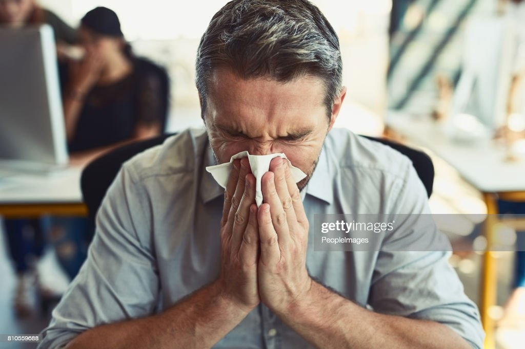 Allergies are just the worst : Stock Photo