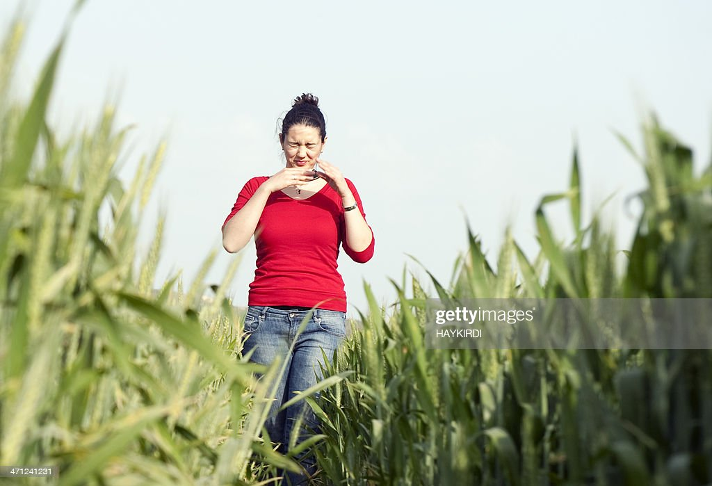 Allergy at Spring : Stock Photo