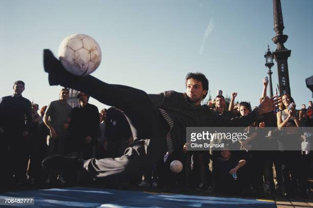 Allessandro del Piero of Italy and Juventus Football Club poses for a portrait for soft drinks manufacturer Pepsi-Cola on 23 December 1999 in...