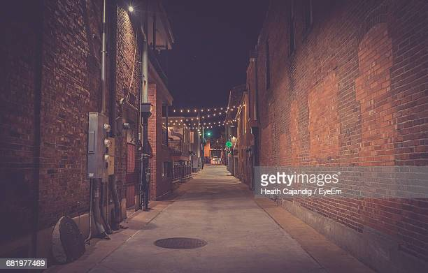 Brick Wall Night Stock Photos and Pictures | Getty Images  Brick Wall Nigh...