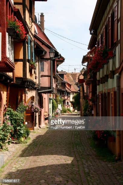 alley amidst houses against sky in city - nancy stock pictures, royalty-free photos & images