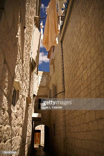 Alley at medieval town of Trogir, Croatia