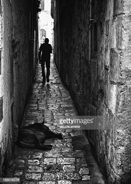 Alley. Black and White