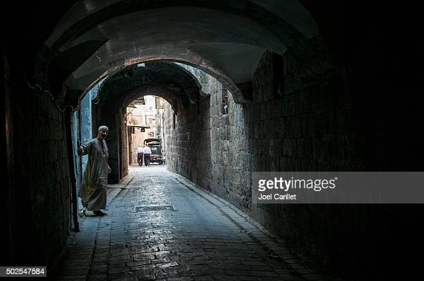 alley in aleppo, syria - aleppo stock pictures, royalty-free photos & images