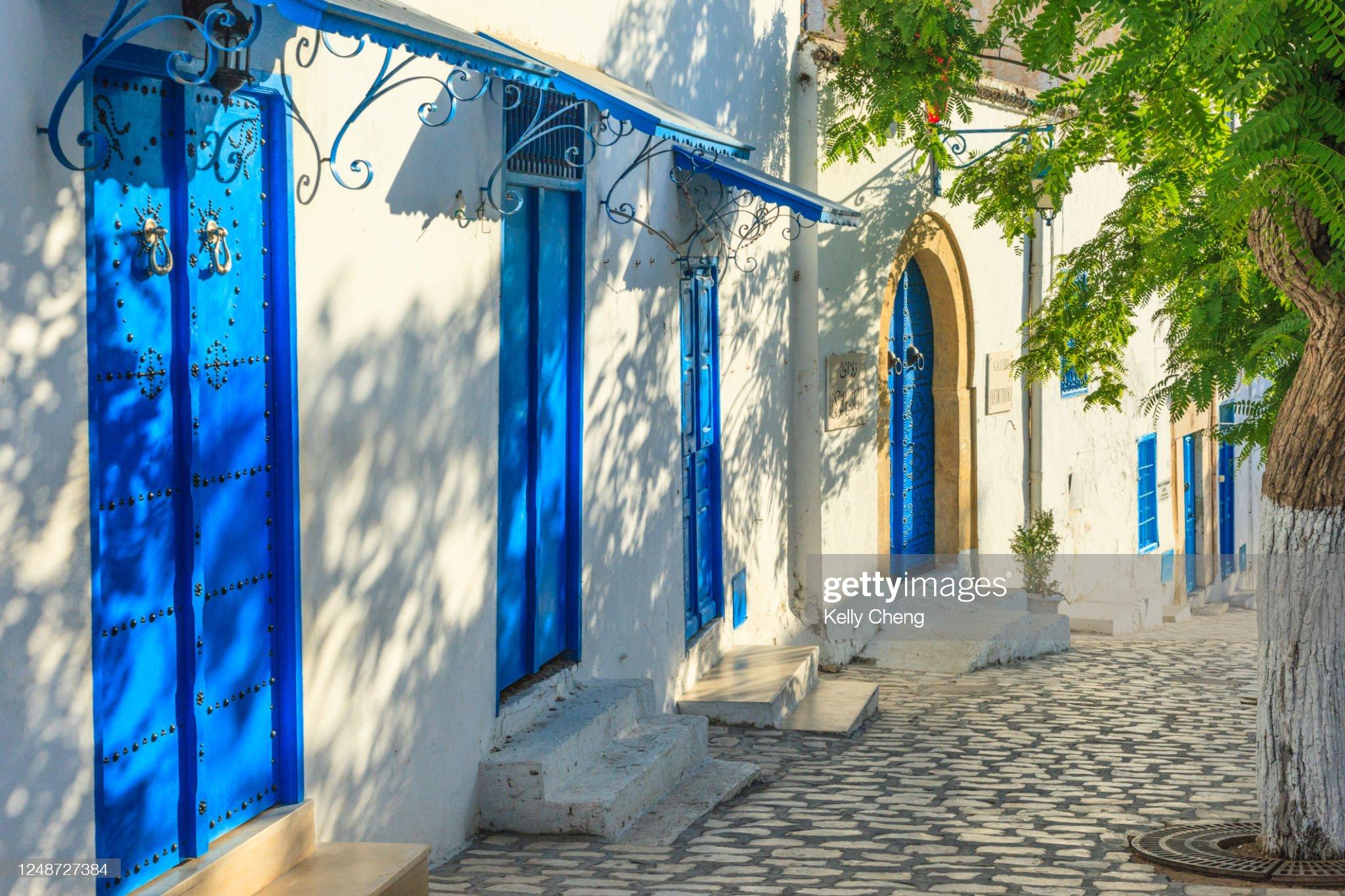 Alley in beautiful Sidi Bou Said : Foto stock