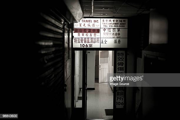 alley in china town new york - desaturated stock pictures, royalty-free photos & images