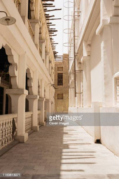 alley in old town in doha - doha stock pictures, royalty-free photos & images