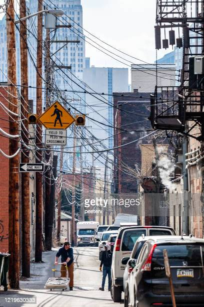 """alley in pittsburgh, pa - """"peeter viisimaa"""" or peeterv stock pictures, royalty-free photos & images"""
