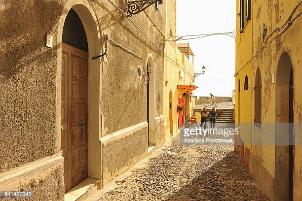 Alley in the old city of Alghero