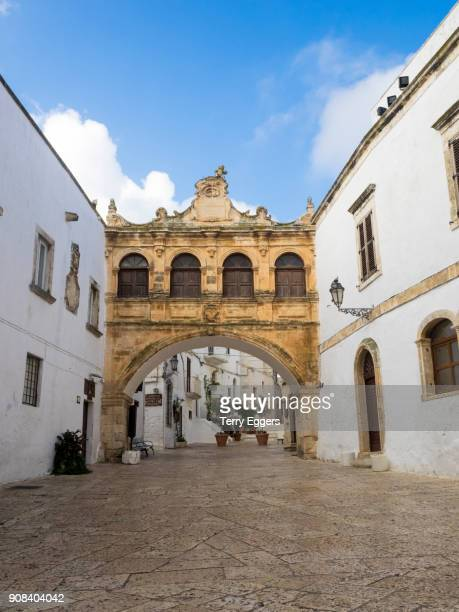 alley in the old town - ostuni stock photos and pictures