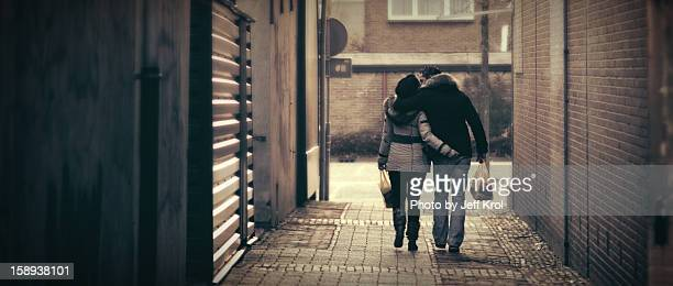 alley of love, people happy and in love walking - hoogeveen stock pictures, royalty-free photos & images