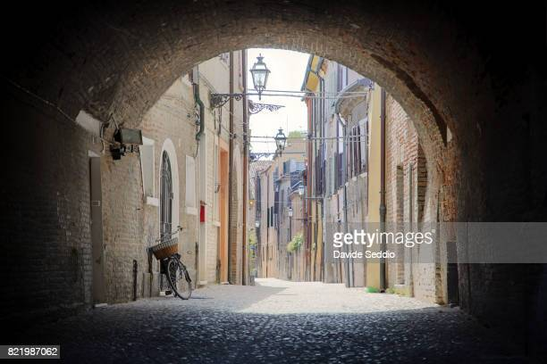 Alley of the old town of Ferrara