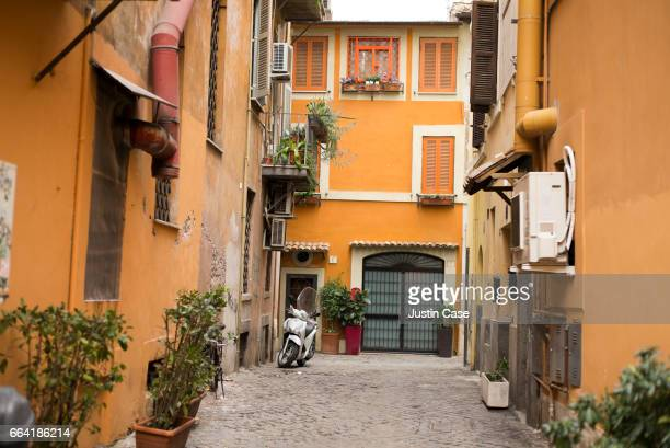 Alley with a scoter in Trastevere