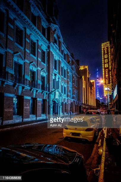 alleys of shanghai - azrin az stock pictures, royalty-free photos & images
