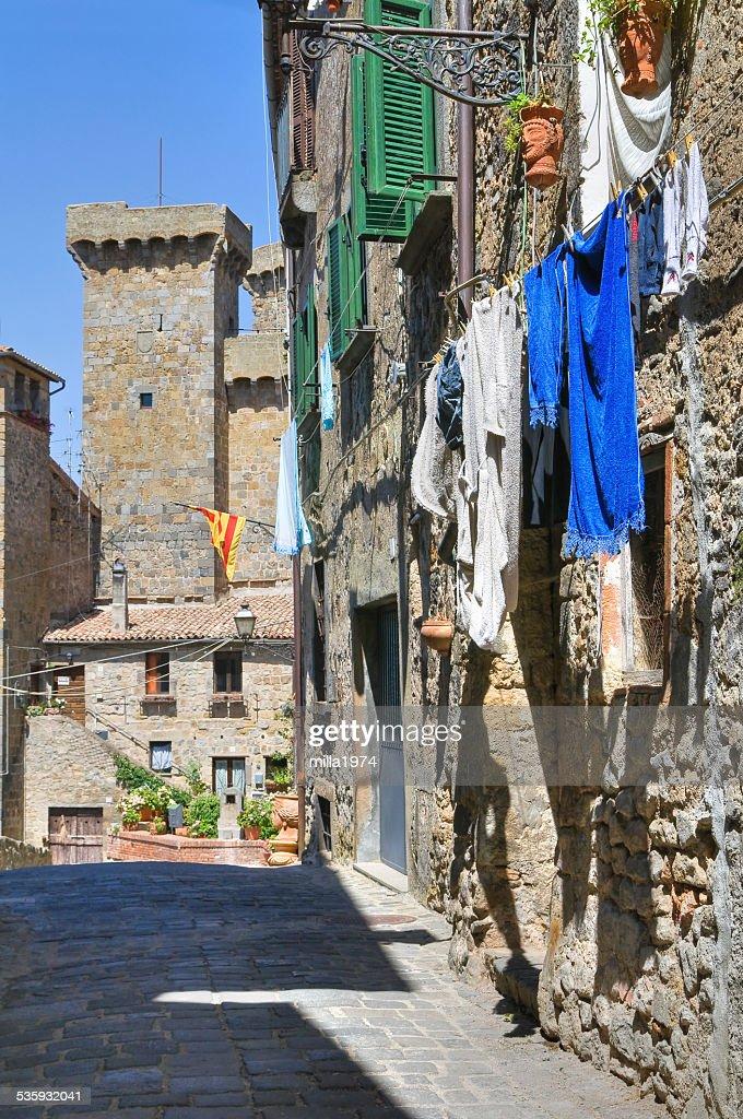 Alleyway. Bolsena. Lazio. Italy. : Stock Photo