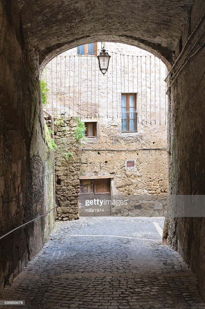 Alleyway. Calcata. Lazio. Italy. : Stock Photo